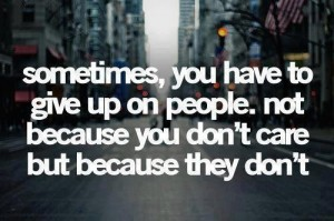 When to Give Up