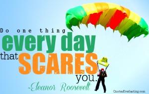 Do something scary