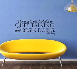 Less Talking More Doing